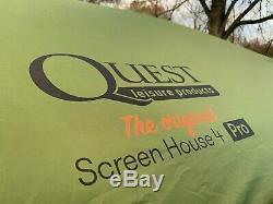 Quest Instant Pop Up Screen House 4 PRO Gazebo Sewn In Zip Down Blinds New