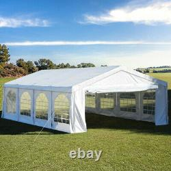 Quictent 4x8M Marquee Party Tent Outdoor White Wedding Patio Gazebo Yard Canopy