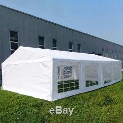 Quictent 4x8M White Marquee Party Tent Garden Gazebo Canopy Portable Carport