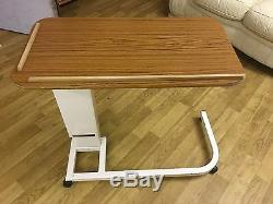Rise and Fall Overbed Table Over Bed Adjustable Desk Medical Nursing Laptop Sofa