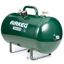 Rolair AIRKEG2 Heavy Duty 10 Gallon Portable Steel Auxiliary Air Storage Tank