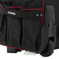 Rolling Tote 22 In. Husky Pro Portable Storage Bag Heavy Duty Tool Organizer Box