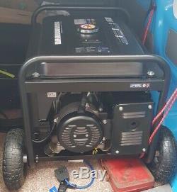 SGS Heavy Duty Portable 6.9kVA Petrol Generator Electric Start & Wheel Kit