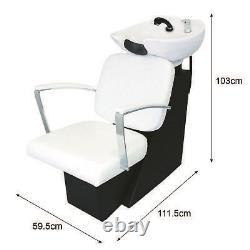 Salon Chair Backwash Hair Barber Hairdressing Sink Shampoo Back Washing White