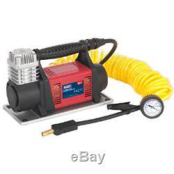 Sealey MAC06 Mini Air Compressor 12V 33A Heavy Duty Tyre Inflator 150psi Max