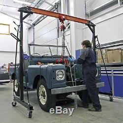 Sealey Portable Gantry Crane Adjustable Mobile Hoist For Level Lifting 1Tonne