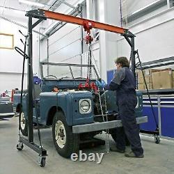 Sealey Tools SG1000 Portable Gantry Crane Adjustable 1 Tonne Lifting Mobile New