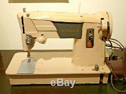 Singer 315 Heavy Duty Sewing Machine Semi Industrial Sew Leather Canvas Denim