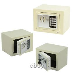 Small White Solid Steel Digital Safe Home Office Heavy Duty Fireproof Money Box