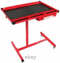 Sunex 8019 Heavy Duty Adjustable Red Work Table With Drawer