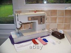 Superb Singer 427 Z/z Heavy Duty Sewing Machine, Instructions, Expertly Serviced