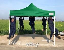 TITAN GAZEBO BY HERCULES 40mm COMMERCIAL GRADE HEAVY DUTY POP UP GAZEBO 3m x 3m