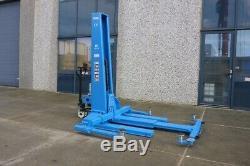 TL35ME mobile single post lift portable 1 post car lift 3,5T CE Stop 35cm