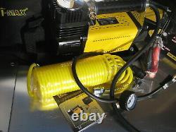 T-MAX 12V Air Compressor HEAVY DUTY Portable Tyre Inflator Adventurer, BA2663