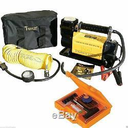 T-MAX 12V Compressor HEAVY DUTY 4x4 Tyre Air Pump & Repair Kit BA2663 & DA2390