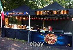 Trade Gazebo Heavy Duty Waterproof Printed Mobile Catering Trailer Market Kiosk