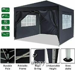 UK 3x3M GAZEBO COMMERCIAL GRADE HEAVY DUTY MARQUE MARKET STALL POP UP TENT PARTY