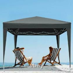UK 3x3 Pop Up Gazebo Waterproof Marquee Canopy Outdoor Garden Party Wedding Tent
