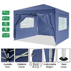 UK GAZEBO COMMERCIAL GRADE HEAVY DUTY MARQUE MARKET STALL POP UP TENT 3x3M BLUE