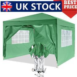 UK GAZEBO COMMERCIAL GRADE HEAVY DUTY MARQUE MARKET STALL POP UP TENT 3x3M GREEN