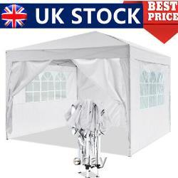 UK GAZEBO COMMERCIAL GRADE HEAVY DUTY MARQUE MARKET STALL POP UP TENT 3x3M WHITE
