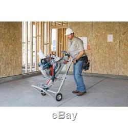 Universal Miter Saw Stand with Wheels Gravity Rise Heavy Duty Portable Adjustable