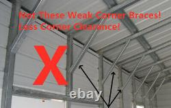 VIC 6x6M Carport Kit Backyard Shade Shelter Portable Shed Carports Pergola