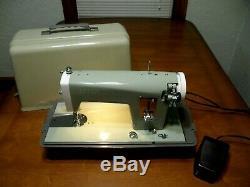 Vintage Avacado Sears Kenmore Sewing Machine 148.296 Heavy Duty Japan