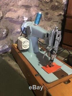 Vintage Baby Blue Brother Heavy Duty Sewing Machine With New Motor Leather