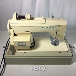 Vtg SINGER Sewing Machine Model 288 Fashion Mate Case & Manual Heavy Duty
