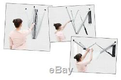 Wall Mounted Clothes Drying Rack Retractable 79FT Indoor Outdoor Laundry Folding