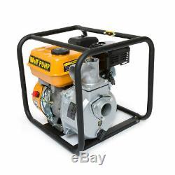 Wolf 2'' Portable Water Pump Petrol Driven 5.5HP 4 Stroke Engine Heavy Duty
