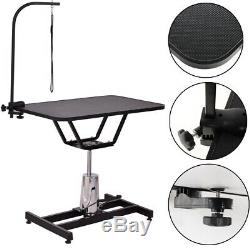 X Large Hydraulic 1/3 Noose Dog Grooming Table Bath Station H Bar, Arm And Leash